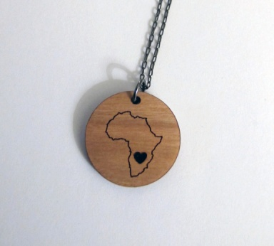 africa necklace close up